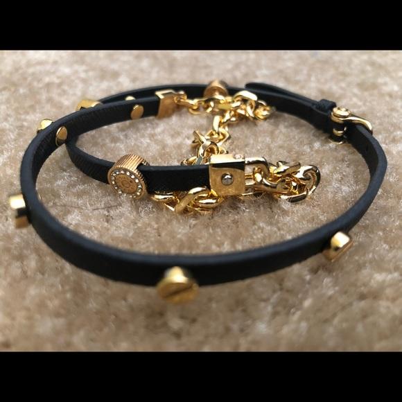 Henri Bendel Jewelry Black And Gold Wrap Bracelet Poshmark